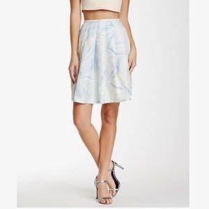NWT! Cynthia Rowley Wrinkle Print Silk Midi Skirt